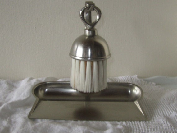 Vintage Dutch Polished Pewter Crumb Catcher