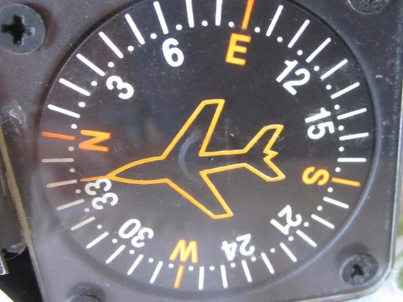 Vintage Airplane Compass