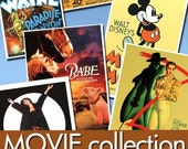 Digital collection images Movie Posters -Part.3- 700 Jpeg files scrap cards labels art cinema actors actresses vintage film posters / C123