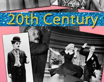Digital collection History 20th Century selection famous people celebrity actresses events world history black and white large images / C158