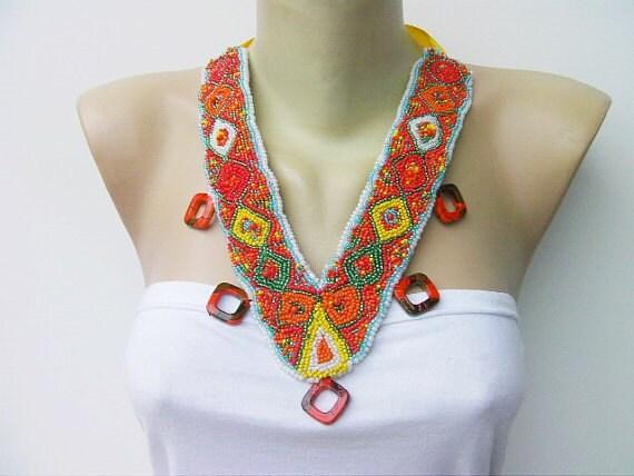 SALE- was 29 USD ,Jewelry/handmade beaded necklace