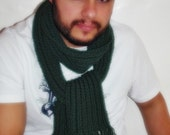 Mens neckwarmer cowl scarf valentines day gift  for him ready to ship green