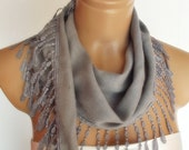 BIG DISCOUNT New Design Pashmina scarf with lace