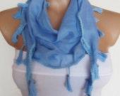 2012 summer fashion cotton scarf new design headband neckwarmer light blue baby blue