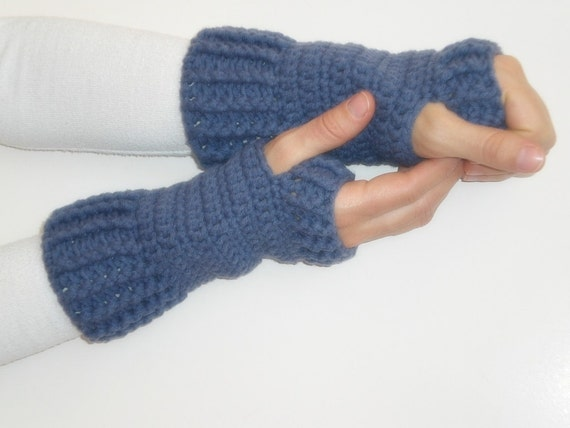 ON SALE Ready to ship Hand Crochet Fingerless Gloves mittens