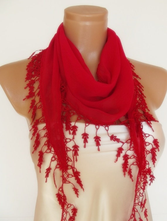valentines day Special Design- Red scarf