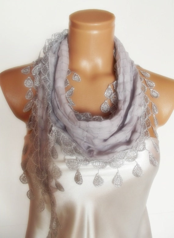 valentines day Special Design grey gray scarf