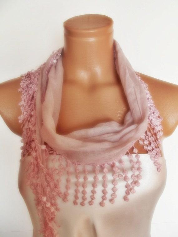 2012 summer fashion cotton scarf new design powder pink soft pink