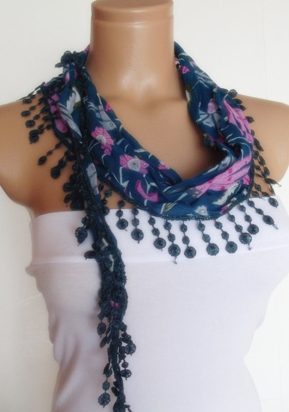 2012 summer fashion cotton scarf new design blue pink navy