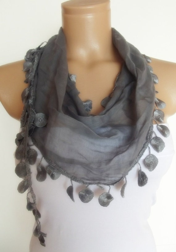 2012 summer fashion cotton scarf new grey gray