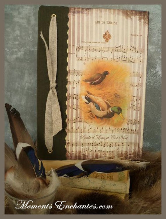 Saint valentin Hunting venery book very nice journal write in French  vintage pictures Hen  water and duck mallard