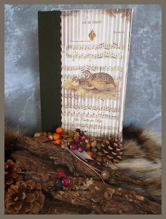 Saint valentin Hunting venery book very nice journal write in French  vintage pictures The quail of bles