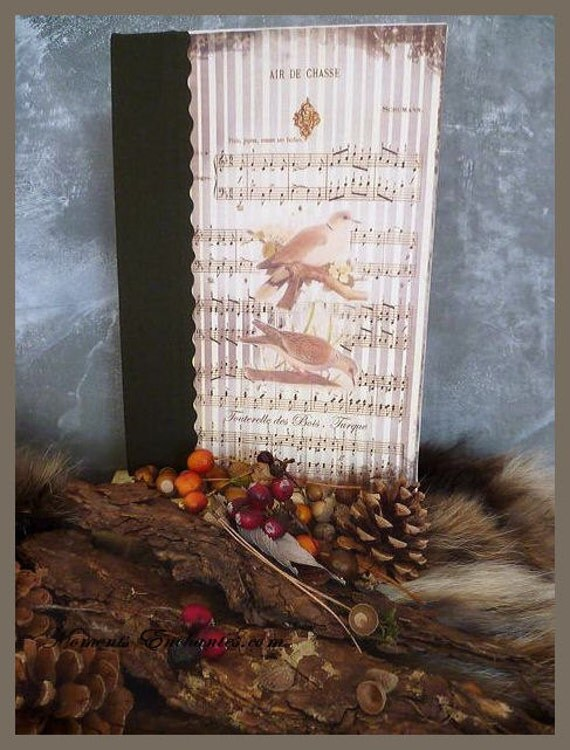 Saint valentin Hunting venery book very nice journal write in French  vintage pictures Turtledove of wood