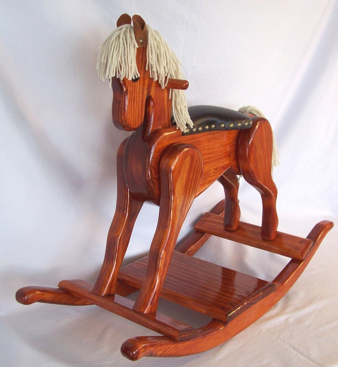 Wooden Rocking Horse ~ Handcrafted wooden rocking horse heritage editon pony