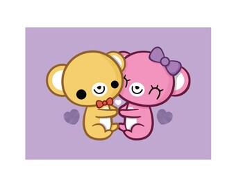 Bear Hug 5x7 Print