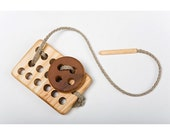 Montessori Sewing Kit/ Wooden Lacing Toy for Fine Motor Skills