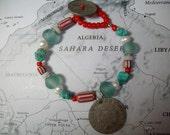 SOLD-Tribal Sundance Mediterranean Sea  Bracelet Ooak