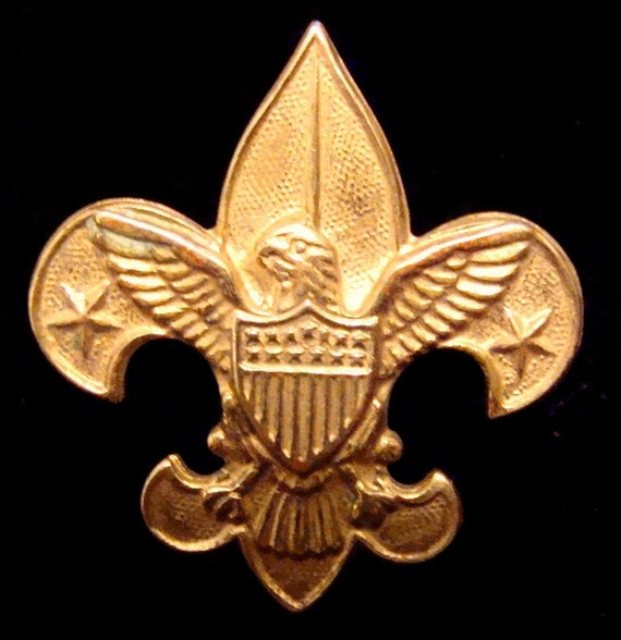 1911 Vintage Boy Scout Fleur De Lis Pin With By Ladycsvintage