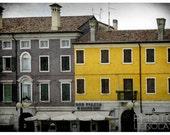 "Italy - Facade - 5x7"" Fine Art Photographic Print -italy, print, vintage, home decor, coffee, yellow, Aquilea"