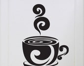 Cup of Cocoa/Coffee - Decal, Sticker, Vinyl, Kitchen, Cupboard, Home, Wall Decor
