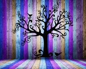 Large, Whimsical Tree, Birds, Crows - Decal, Sticker, Vinyl, Wall, Home, Office, Holiday, Gothic Decor