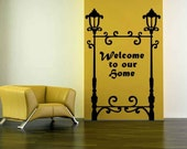 Lamp Post Sign, Street Light, Customized - Decal, Sticker, Vinyl, Wall, Home, Office, Family Decor