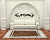 Old World Flourish - Vinyl, Decal, Sticker, Wall, Home, Office, Decor