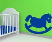 Rocking Horse, Toy - Decal, Sticker, Vinyl, Wall, Home, Nursery, Children's Bedroom, Daycare Decor