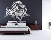 Zebra Art 2, Africa, Zoo, Stripes - Decal, Sticker, Vinyl, Wall, Home, Bedroom, Office, Dorm Decor