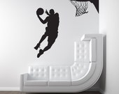 Basketball Player, Dunk, Ball, Michael Jordan - Decal, Sticker, Vinyl, Wall, Home, Kid's Bedroom Decor