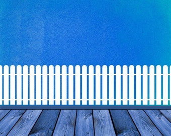 White picket fence wall decal high def pictures