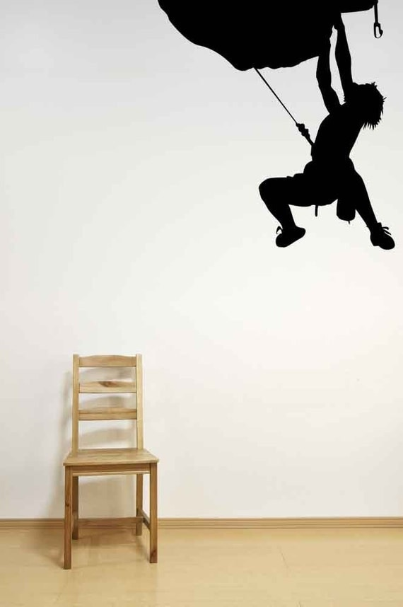 Rock Wall Home Decor : Rock climbing decal art by vinylwallaccents
