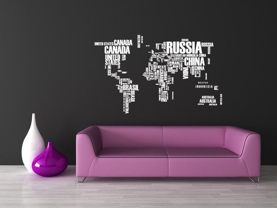 World Of Words With Countries Such As United By
