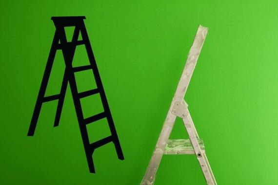 Decorative Ladder, Ladder Decor, Decal, Vinyl Sticker, Vinyl Decal, Wall Art, Home, Office, Work Decor, Gifts for Painters, Ladder Display
