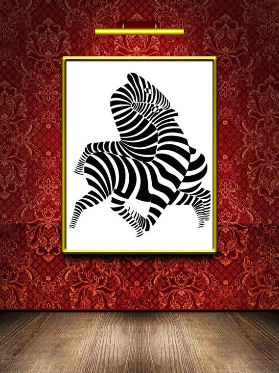 Zebra Room Decor Zebra Art Zebra Wall Decal By