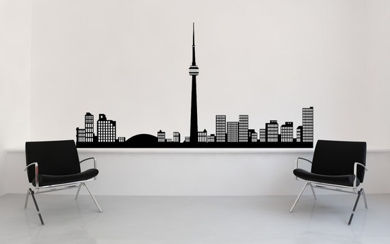 Toronto Skyline, Canada Sticker, Skyline Wall Decal, Skyline Decal, Vinyl Sticker, Wall Art, Home, Office Decor, Bachelor Pad Decor