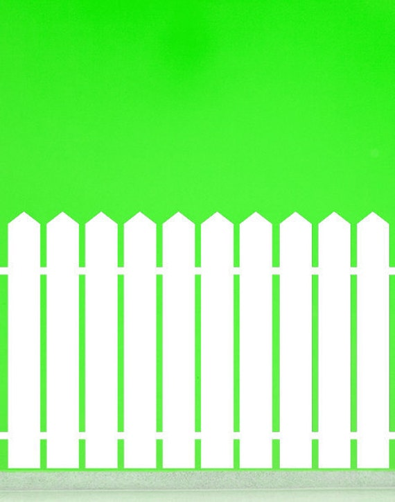 Picket Fence with Pointed Top - Vinyl, Decal, Sticker, Wall, Home, Children's, Daycare Decor