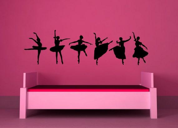 Ballerinas, Ballet - Decal, Sticker, Vinyl, Wall, Home, Bedroom, Dance Studio Decor