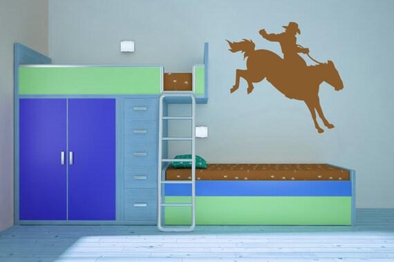 Rodeo Star, Bucking Bronco, Cowboy - Decal, Sticker, Vinyl, Wall, Home, Bedroom Decor