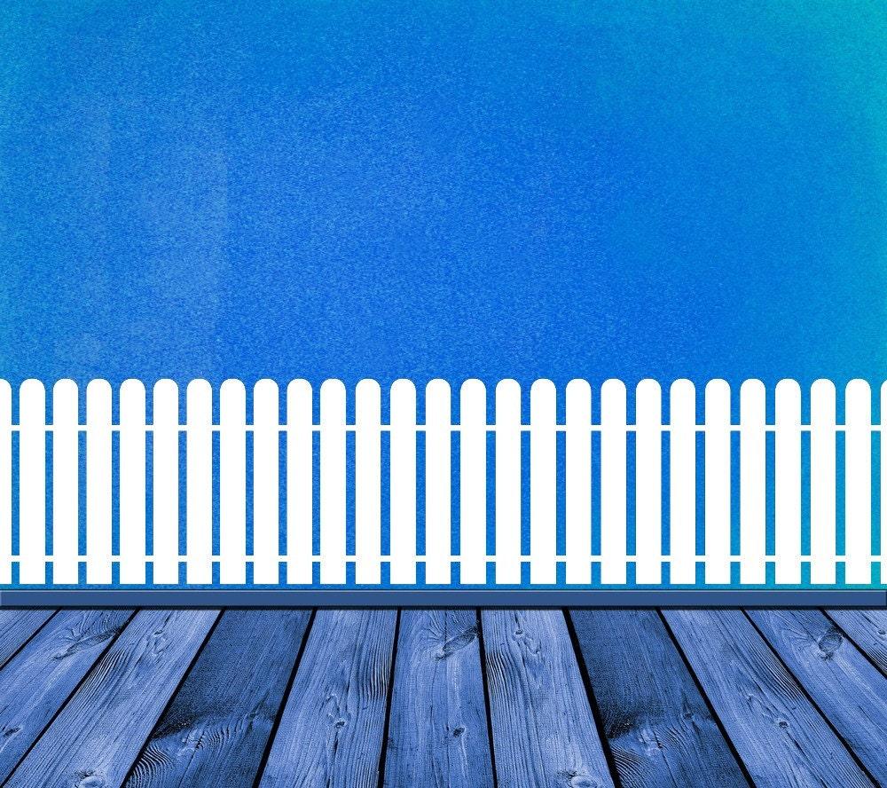 Picket Fence Picket Fence Decor Fence Art Fence Decor Wall