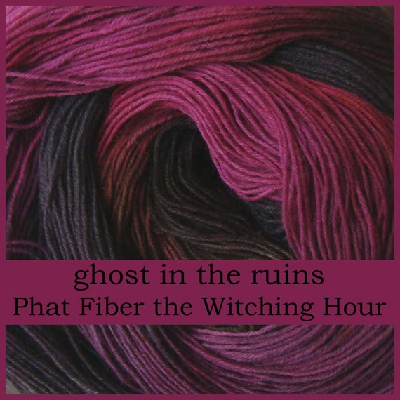Phat Fiber yarn GHOST in the RUINS Sock Yarn 75/25 wool/nylon 3.5oz / 460 yards