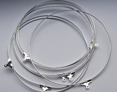22 pcs Extra large Silver Tone Earring Hoops - 65 mm F 20 001