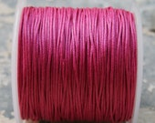 Pink Waxed Cotton Cord (1mm) 10 m- 11 yards S 40 034