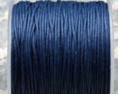 Navy Blue Waxed Cotton Cord (1mm) 10m- 11yards - S 40 039