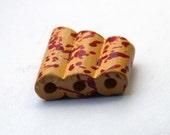 Three yellow ceramic tubes in one -splatter edition - 1pcs
