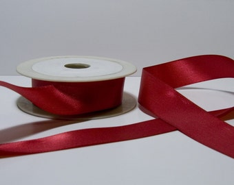 RED SATIN RIBBON (25mm) 10 m - 32.8 ft S 40 062