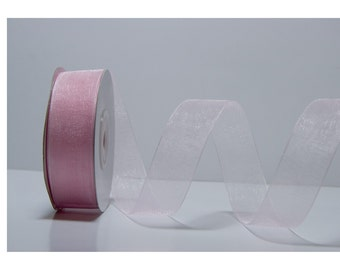 PINK ORGANZA RIBBON (24mm) 10m - 11 yards S 40 075
