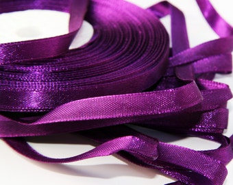 Purple Satin ribbon (10mm) - 10 m- 11 yards-  S 40 064