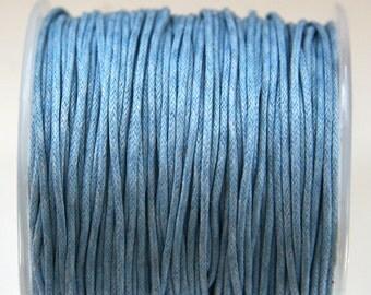 Light Blue Wax Cotton Cord (1mm) 10 m- 11 yards S 40 040