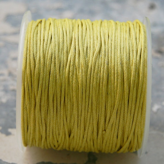 Yellow Wax Cord (1mm) 10 m- 11 yards S 40 035